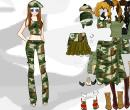 Hra online - Army dress up